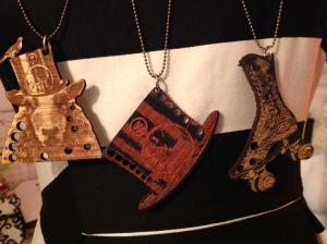 Steampunk needle gauge necklaces